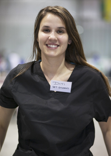 Diti Antonopoulos was one of eight senior veterinary students who participated in the college's new remote clinical practice rotation.