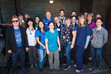 Dr. Jane Vermeulen (front row, third from right) and other volunteers at Vets for Pets. Submitted photos.