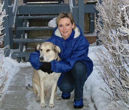 Dana Brass with her dog Sasha. Submitted photo.